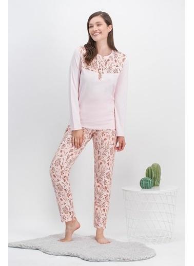 Arnetta Arnetta Vintage Flowers Cure Açık Pembe Kadın Pijama Takımı Pembe